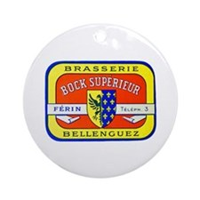 France Beer Label 7 Ornament (Round)