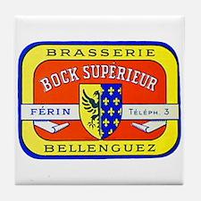 France Beer Label 7 Tile Coaster