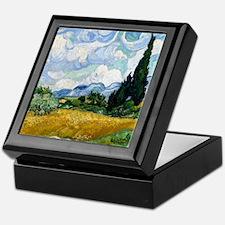 Van Gogh Wheat Field With Cypresses Keepsake Box