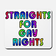 Straights for gay rights - Mousepad