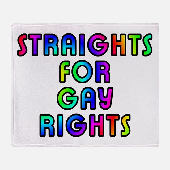 Straights for gay rights - Throw Blanket