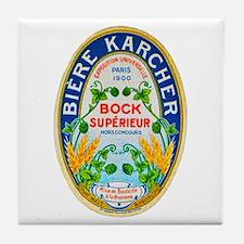 France Beer Label 5 Tile Coaster