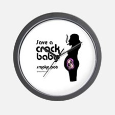Save a crack baby -  Wall Clock