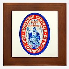 France Beer Label 4 Framed Tile