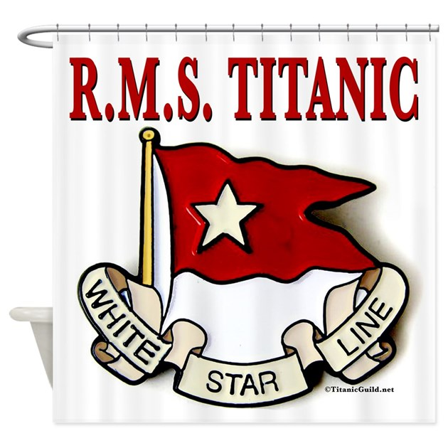 White Star Line RMS Titanic Shower Curtain By