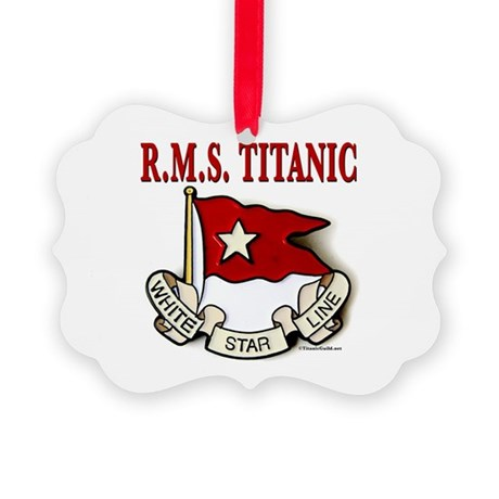 White Star Line: RMS Titanic Picture Ornament