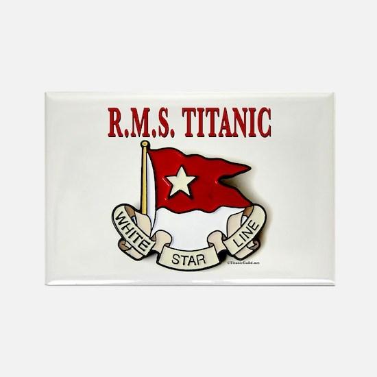 White Star Line: RMS Titanic Rectangle Magnet