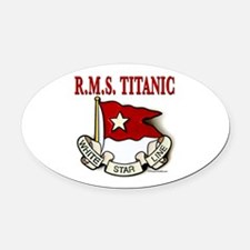 White Star Line: RMS Titanic Oval Car Magnet