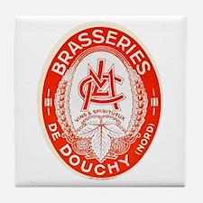 France Beer Label 3 Tile Coaster