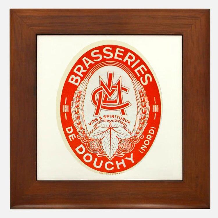 France Beer Label 3 Framed Tile