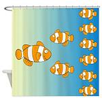 Cute Clown Fish Designer Shower Curtain
