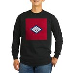 Arkansas Flag Long Sleeve Dark T-Shirt