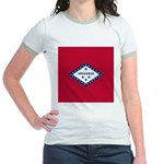 Arkansas Flag Jr. Ringer T-Shirt