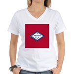 Arkansas Flag Women's V-Neck T-Shirt