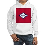 Arkansas Flag Hooded Sweatshirt