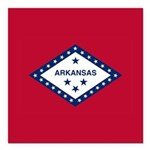 Arkansas Flag Square Car Magnet 3