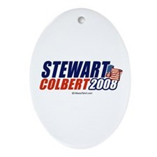 Stewart / Colbert 2008 -  Oval Ornament