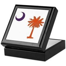 Cute Clemson tigers Keepsake Box