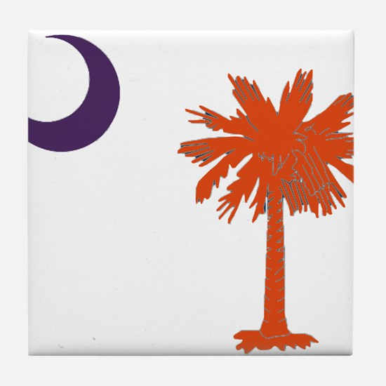 Cute Clemson Tile Coaster
