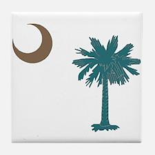 Palmetto tree Tile Coaster