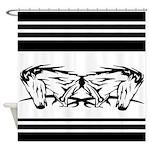 Black Horse Art Shower Curtain