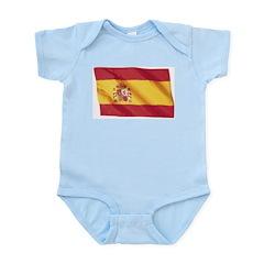 Wavy Spain Flag Infant Creeper