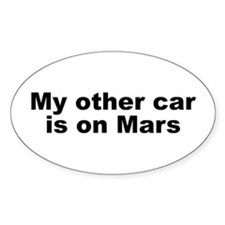 My other car is on Mars Decal