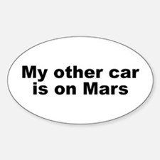 My other car is on Mars Sticker (Oval)