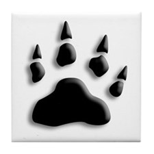 Polar Bear Print Tile Coaster