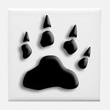 Polar Bear Print Tile Coaster