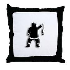 Eskimo Fishing Throw Pillow
