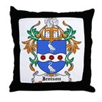 Jennings Coat of Arms Throw Pillow