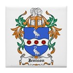 Jennings Coat of Arms Tile Coaster