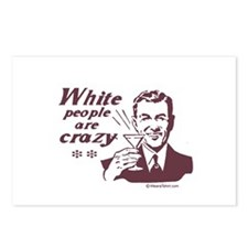 White People are Crazy -  Postcards (Package of 8)