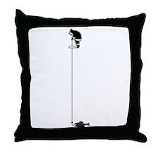 Eskimo Ice-Fishing Throw Pillow