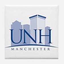 UNH Manchester Logo Tile Coaster
