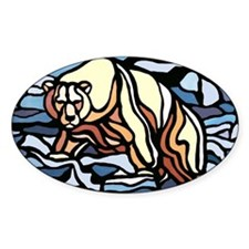 Polar Bear Art Sticker Wildlife First Nations Art