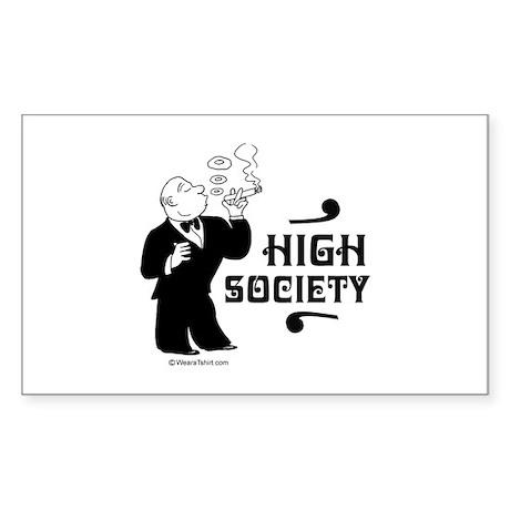 High Society - Rectangle Sticker