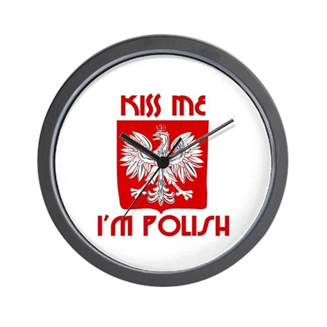 Kiss me, I'm Polish - Wall Clock