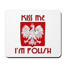 Kiss me, I'm Polish -  Mousepad
