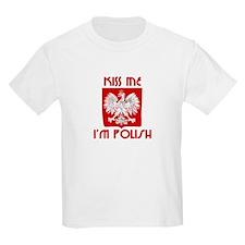 Kiss me, I'm Polish -  Kids T-Shirt