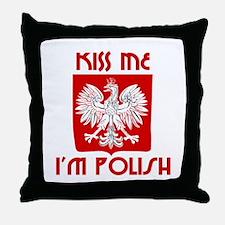 Kiss me, I'm Polish -  Throw Pillow