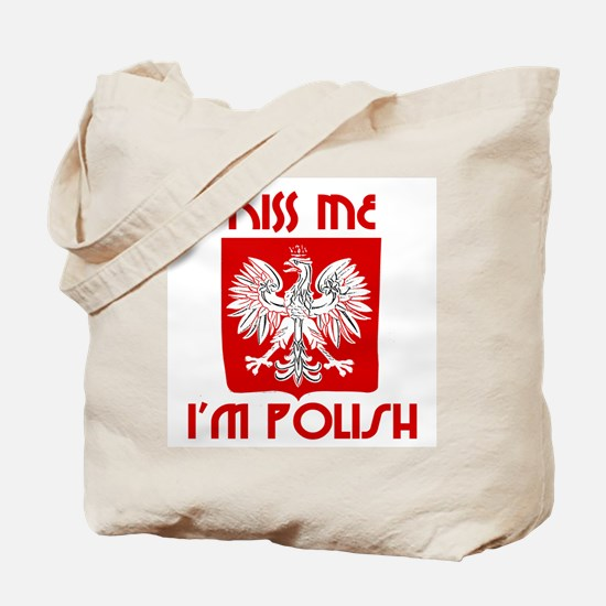 Kiss me, I'm Polish -  Tote Bag