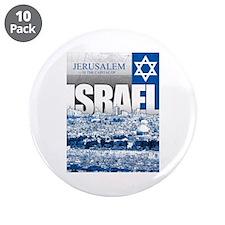 """Jerusalem, Israel 3.5"""" Button (10 pack)"""