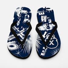 Extreme Blue Flip Flops