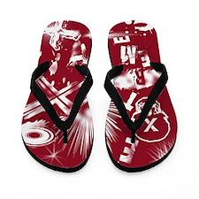 Extreme Red Flip Flops