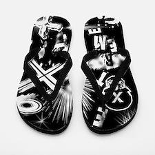 Extreme Black Flip Flops