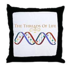 Threads Of Life Throw Pillow