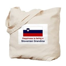 Happy Slovenian Grandma Tote Bag