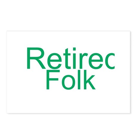Retired Folk Postcards (Package of 8)